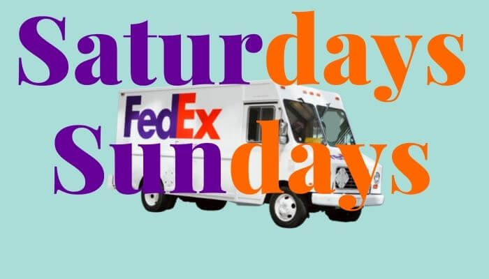 does fedex deliver on weekends